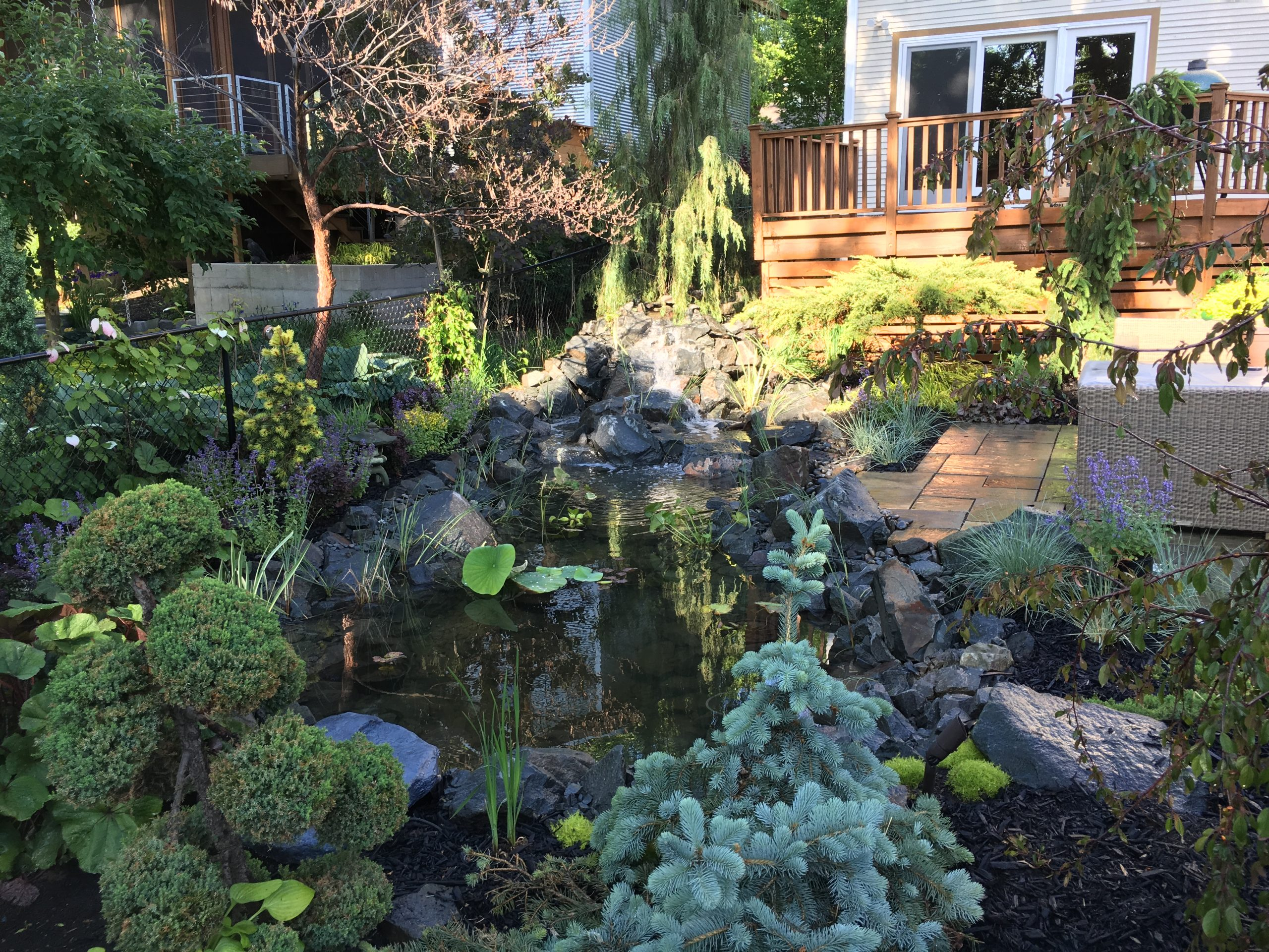 water feature installation yard minnesota